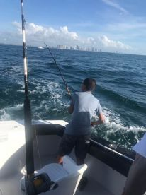 My 14 year old son reeling one in