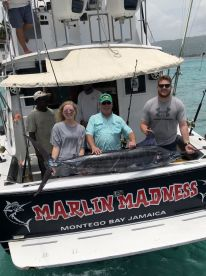 Marlin Madness derinetly boat to take