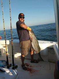44lb 48inch long Stripped Bass