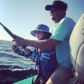 Capt. Blake helped my son catch a King Fish
