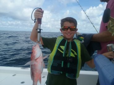 Red snapper on light tackle