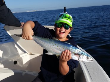 Hayden landed a good size Spanish Mackerel as well.