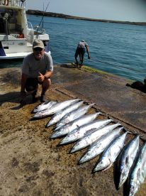 Full day's fishing with Captain Massimo & Crew
