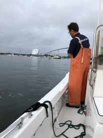 Captain Mark catching some bait