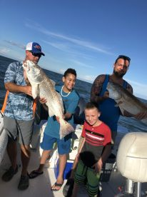 Boys first ocean fishing trip