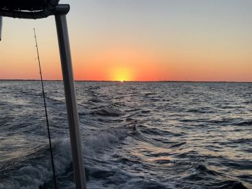 Awesome sunrise as we head out