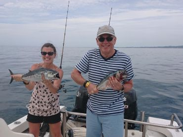 Two of our many catch of the day!