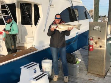 Full day trolling for stripers